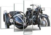 Glasschilderij Motor | Grijs, Zwart, Wit | 170x100cm 5Luik | Foto print op Glas |  F000778