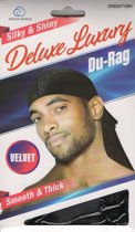 Dream Silky & Shiny Deluxe Luxury Du-Rag (Velvet) Black
