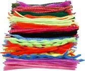 Chenille draad, dikte 5-12 mm, l: 30 cm, diverse kleuren, 500div