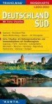 KUNTH Reisekarte Deutschland Süd 1 : 300 000