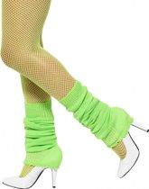 Fluor groene beenwarmers