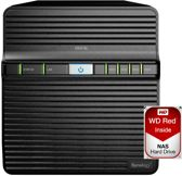 Synology DS416j - NAS - incl 8TB (4x 2TB) WD RED