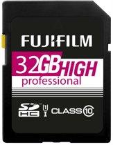 Fujifilm 32GB SDHC kaart UHS-I High Professional Class 10 UHS-I