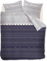 Rivièra Maison Sylt Stripe - Dekbedovertrek - Eenpersoons - 140x200/220 cm - Blauw