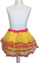 Spaans ballet Rokje geel roze verkleedkleding Prinsessen bij jurk - lengte 26 cm -