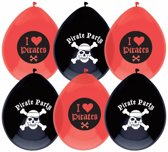 Piraten Ballonnen Party 25cm 6 stuks