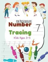 Number Tracing Book for Preschoolers and Kids Ages 3-5: Tracing Numbers Practice Workbook for Pre-K (kids ages 3-5), Writing Workbook For Tracer (Pres
