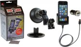 Kram 60203 Fix2Car Actieve Houder Met Zuignap Apple iPhone 5 Incl. Car charger & Griffin Data Cable