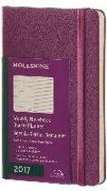 Moleskine 12 Months Weekly Planner 2017 - Pocket - Grape Violet - Hard Cover