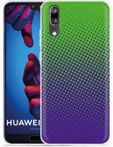 Huawei P20 Hoesje lime paarse cirkels