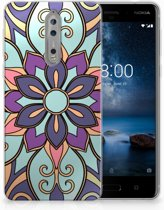 Nokia 8 TPU Hoesje Design Purple Flower