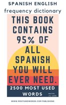 Spanish English Frequency Dictionary - Essential Vocabulary - Most Used 2500 Words & 468 Most Common Verbs