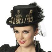 Hoge hoed skelet zwart