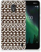 Nokia 2 Uniek TPU Hoesje Aztec Brown