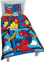 Overige Merken Kinderdekbedovertrek Spiderman Stripheld