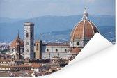 Panorama van de Dom van Florence Poster 120x80 cm - Foto print op Poster (wanddecoratie woonkamer / slaapkamer) / Europese steden Poster