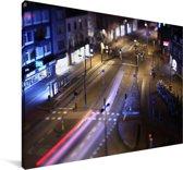 De straten in de Nederlandse stad Eindhoven Canvas 140x90 cm - Foto print op Canvas schilderij (Wanddecoratie woonkamer / slaapkamer) / Europese steden Canvas Schilderijen