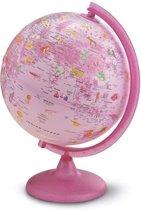 Wereldbol NL Globe Pink Zoo met verlichting 25cm