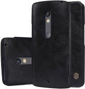 Nillkin Qin Series Lederen Flip Case Motorola Moto X Play Zwart