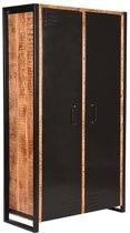 LABEL51 - 2-Deurs Kast Brussels - Mangohout - 100x45x180 cm