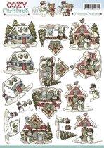 3D Knipvel - Yvonne Creations - Cosy Christmas - Xmas House