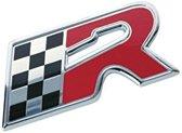 Race Sport Embleem Race Vlag Chroom 46 X 25 Mm Per Stuk