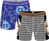 Muchachomalo No guts no glory Heren Boxershorts - 2 pack - print - Maat S