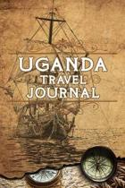 Uganda Travel Journal: Notebook 120 Pages 6x9 Inches - Vacation Trip Planner Travel Diary Farewell Gift Holiday Planner