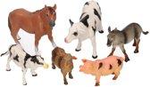 Boerderij dieren 6 stuks