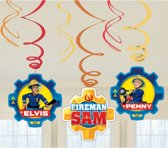 Fireman Sam Hangdecoratie Versiering Set 6 delig