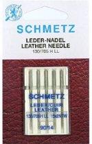 Naaimachinenaalden Schmetz Leer naalden 5 stuks 130/705 H LL  90/14