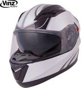 Vinz Devon Integraalhelm incl. Zonnevizier / Motorhelm - Zwart / Zilver-Small