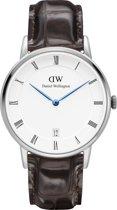 Daniel Wellington Dapper York DW00100097 - Horloge - Leer - Bruin - Ø 34 mm