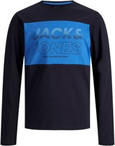 Jack & Jones Shirt - Maat 128  - Jongens - navy/blauw
