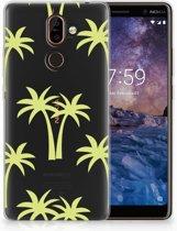 Nokia 7 Plus Uniek TPU Hoesje Palmtrees