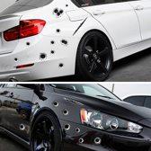 Autostickers met krassen en kogelgaten – Stickerset – 18 Stickers