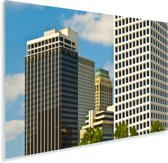 Hoge gebouwen van de Noord-Amerikaanse stad Tulsa in Oklahoma Plexiglas 30x20 cm - klein - Foto print op Glas (Plexiglas wanddecoratie)
