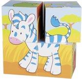 Goki Animals, cube puzzle
