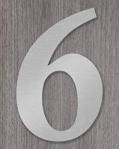 RVS Huisnummer 20cm Calisto nummer 6