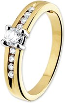 The Jewelry Collection Ring Diamant 0.40 Ct. - Bicolor Goud