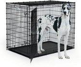 Midwest Hondenbench Mega - 137x94x114 cm - Zwart