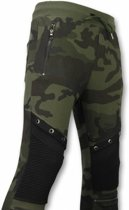 Enos Camouflage Broek - Casual Joggingbroek - Camouflage Biker - Khaki - Maten: XL