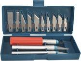 Aluminium Precisie mesjes – Hobby mes – Hobby messenset - Scalpel messen - Modelleer gereedschap – 16 delig