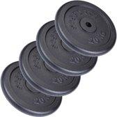ScSPORTS® 80 kg Halterschijven set gietijzer 30 mm