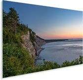 Zee bij het Nationaal park Forillon in Canada Plexiglas 180x120 cm - Foto print op Glas (Plexiglas wanddecoratie) XXL / Groot formaat!