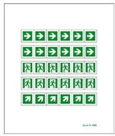 Mini symbolen vluchtwegaanduiding 2, 12 mm