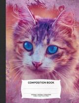 Vintage Paper Cute Cat Composition Notebook, College Ruled