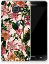 Samsung Galaxy A3 2016 Uniek TPU Hoesje Flowers