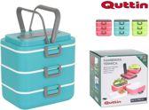Quttin lunchbox met 3 vakken groen