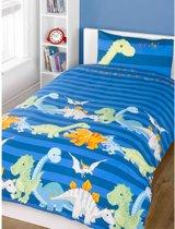 Dinosaurus Tweepersoons Dekbedovertrek Blauw | 200 x 200 cm
